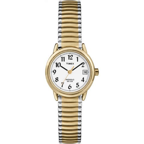 eb8e049fa Timex Women's T2H381 Easy Reader 25mm Two-Tone Stainless Steel Expansion  Band Watch
