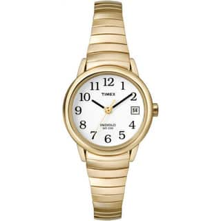 Timex Women's T2H351 Easy Reader Gold-Tone Stainless Steel Expansion Band Watch|https://ak1.ostkcdn.com/images/products/5156942/P12998365.jpg?impolicy=medium
