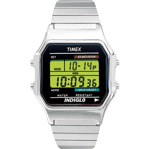 Timex Men's T78587 Classic Digital Dress Stainless Steel Expansion Watch - silver