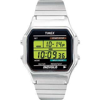 Timex Men's T78587 Classic Digital Dress Stainless Steel Expansion Watch