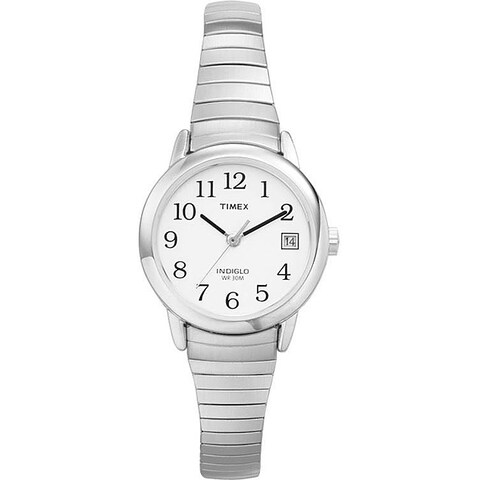 Timex Women's T2H371 Easy Reader 25mm Silver-Tone Stainless Steel Expansion Band Watch