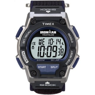 Timex Men's T5K198 Ironman Classic Shock 30-Lap Fast Wrap Strap Watch