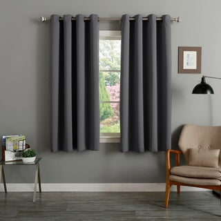 Link to Aurora Home Grommet Top Thermal Insulated Blackout 64-inch Curtain Panel Pair - 52 x 64 - 52 x 64 Similar Items in Curtains & Drapes