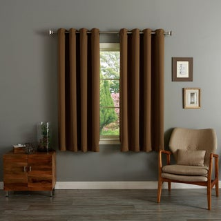 Aurora Home Grommet Top Thermal Insulated Blackout 64-inch Curtain Panel Pair - 52 x 64