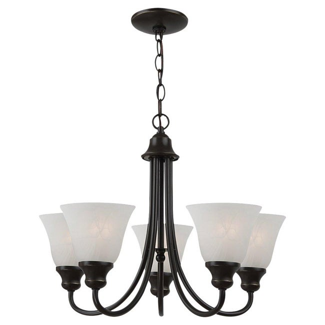 Windgate 5-light Heirloom Bronze Chandelier - Thumbnail 0