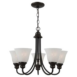 Windgate 5-light Heirloom Bronze Chandelier