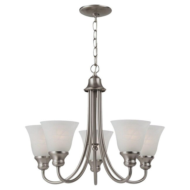 Windgate 5 light Brushed Nickel Chandelier Free Shipping