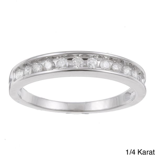 Unending Love 10k White Gold 1/4 to 1/2ct TDW Diamond Wedding Band (H-I, I2-I3)