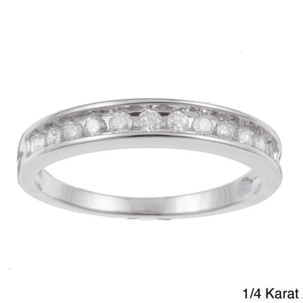 Unending Love 10k White Gold 1/4 to 1/2ct TDW Diamond Wedding Band (H-I, I2-I3)