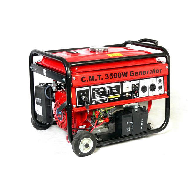 OEM 3500W 6.5HP Wheeled Gasoline Generator with Electric Start