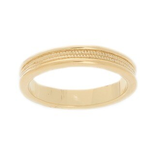 NEXTE Jewelry Gold Overlay Men's Band