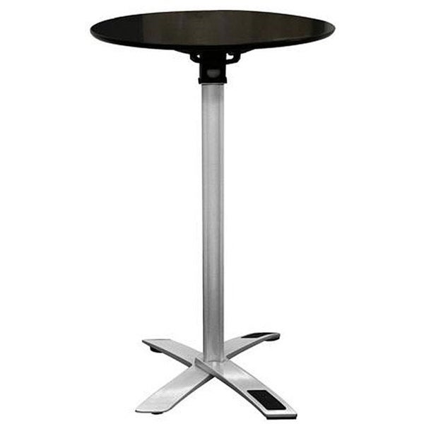 Baxton Studio Yang Black / Silver Folding Event Table (Tall Height)