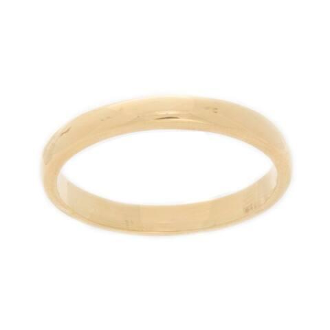 NEXTE Jewelry 14k Yellow Gold Overlay Men'sTapered Band (3 mm)