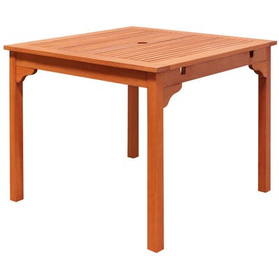 Surfside Outdoor Eucalyptus Wood Stacking Dining Table by Havenside Home