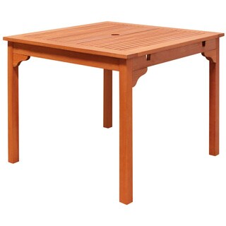 The Gray Barn Bluebird Outdoor Eucalyptus Wood Stacking Dining Table