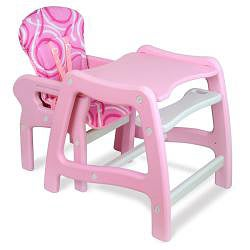 ... Thumbnail Badger Basket Envee Baby High Chair/ Play Table In Pink
