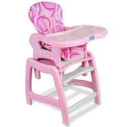 Badger Basket Envee Baby High Chair/ Play Table in Pink