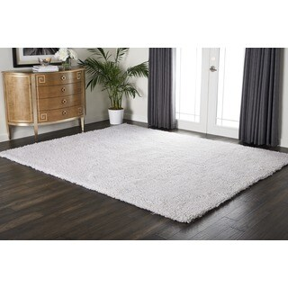 Nourison Splendor White Shag Area Rug (7'6 x 9'6)