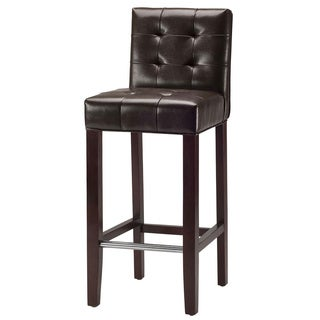 Safavieh Noho Espresso Leather 30-inch Barstool