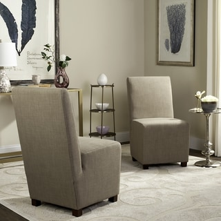 Safavieh Parsons Dining Blocks Beige Dining Chairs (Set of 2)