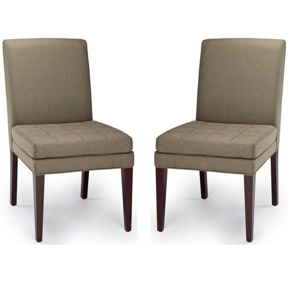 Safavieh Parsons Dining Soho Stone Sage Dining Chairs (Set of 2)