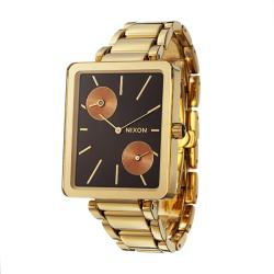 Nixon Women's 'The Ivy' Goldplated steel Dual Time Quartz Watch