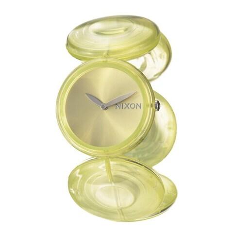 Nixon Women's 'The Spree' Green Polycarbonate Quartz Watch