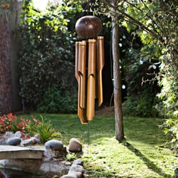 Bamboo 'Natural Small' Wind Chime, Handmade in Indonesia - Thumbnail 2