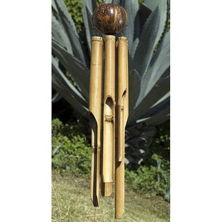 Handmade Bamboo 'Natural X-large' Wind Chime (Indonesia)