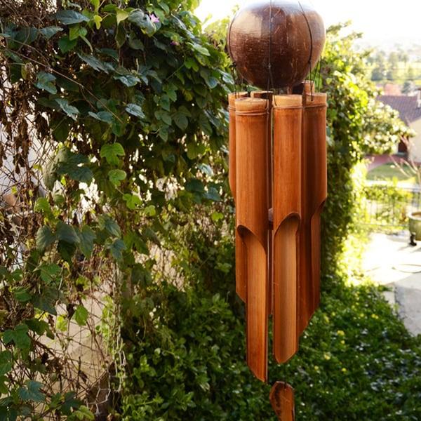 Handmade Bamboo 'Natural Medium' Wind Chime (Indonesia)