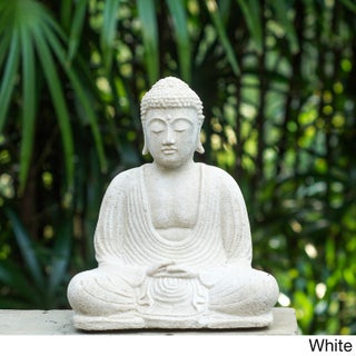 Garden Buddha Sculpture (Indonesia) (Option: White)