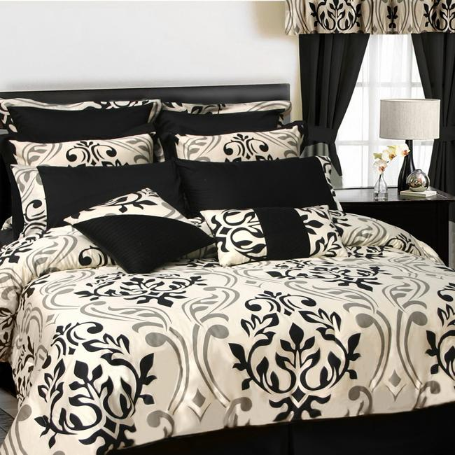 Prague Sateen Traditional Cotton 12-piece Bed in a Bag with Sheet Set