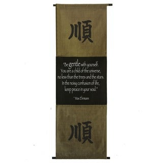 Cotton Gentleness Symbol and Max Ehrmann Quote Scroll, Handmade in Indonesia