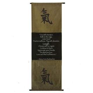 Cotton Energy Symbol and Mary Anne Radmacher Quote Scroll (Indonesia)