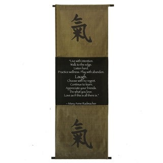 Handmade Cotton Energy Symbol and Mary Anne Radmacher Quote Scroll (Indonesia)