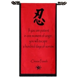 Handmade Cotton Patience Chinese Proverb Scroll (Indonesia)