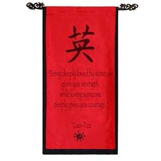 Cotton Courage Symbol and Lao-Tzu Quote Scroll, Handmade in Indonesia