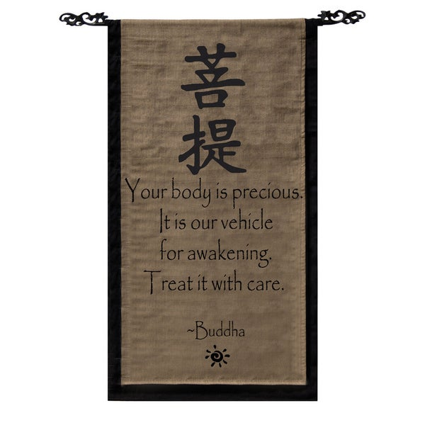 Shop Cotton Awakening Symbol And Buddha Quote Scroll Handmade In
