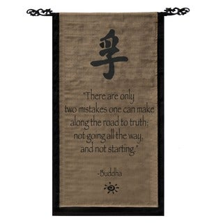 Handmade Cotton Truth Symbol and Buddha Quote Scroll (Indonesia)