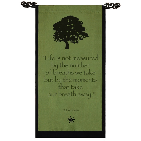Merveilleux Handmade Cotton Tree Of Life Design Unknown Quote Scroll (Indonesia)