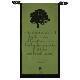 Handmade Cotton Tree of Life Design Unknown Quote Scroll (Indonesia)