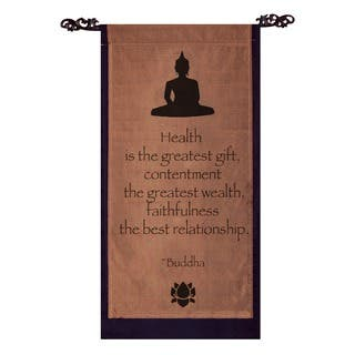 Cotton Buddha Quote Scroll, Handmade in Indonesia|https://ak1.ostkcdn.com/images/products/5160254/P13000865.jpg?impolicy=medium