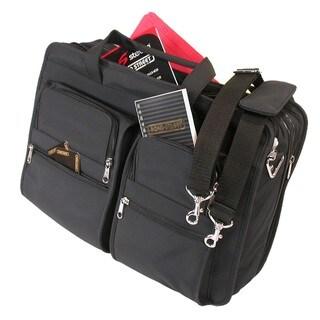 Lightweight Microfiber Zip Briefcase