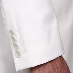 Ferrecci Men's White Mandarin Collar Suit - Thumbnail 1