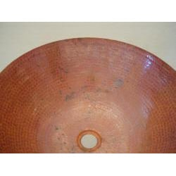 Hand-hammered Fired Copper Vessel Sink - Thumbnail 1