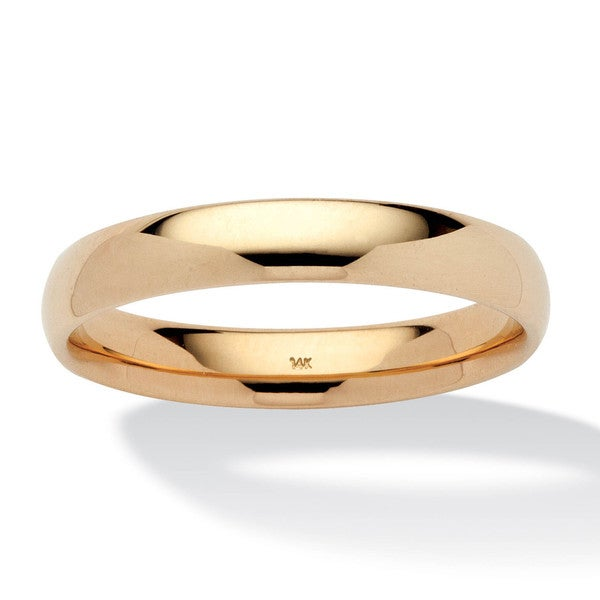 PalmBeach Men's 4 mm Wedding Band in 14k Yellow Gold