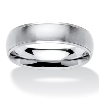 Men's Comfort Fit Wedding Band in Stainless Steel