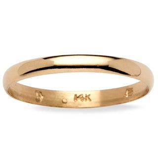 PalmBeach 14k Yellow Gold Wedding Band (3mm) Tailored