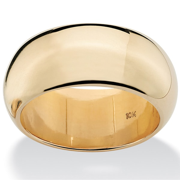PalmBeach Wedding Band in 10k Yellow Gold Tailored