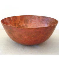 Vintage 13-inch Fired Copper 16 -gauge Vessel Sink